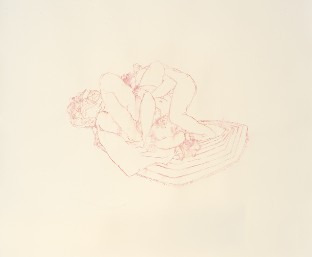 , 'Rug Drawing #1 (side fall/head lock/pink),' 2011, Catharine Clark Gallery