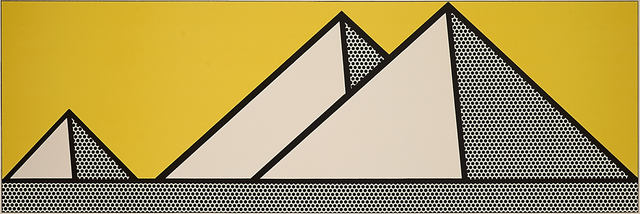Roy Lichtenstein, 'Pyramids', 1969, Print, Lithograph in colors on Arches, Rago/Wright