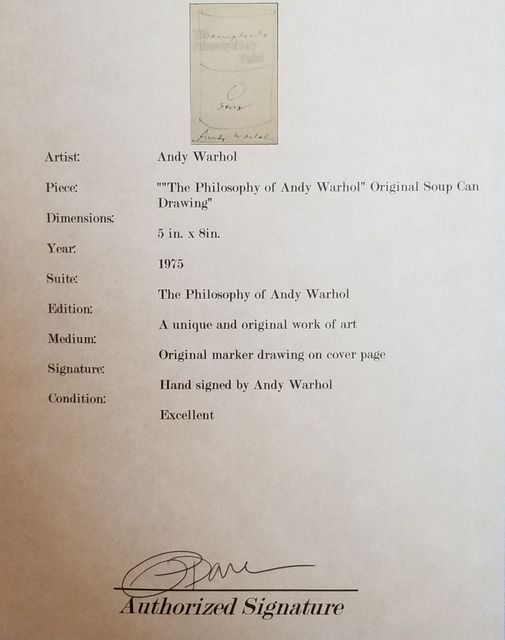 """Andy Warhol, '""""The Philosophy of Andy Warhol""""', 1975, Drawing, Collage or other Work on Paper, RoFa Projects"""