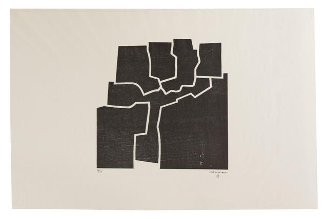 Eduardo Chillida, 'Beltza V', 1969, Print, Woodcut on Japanese paper, Zeit Contemporary Art