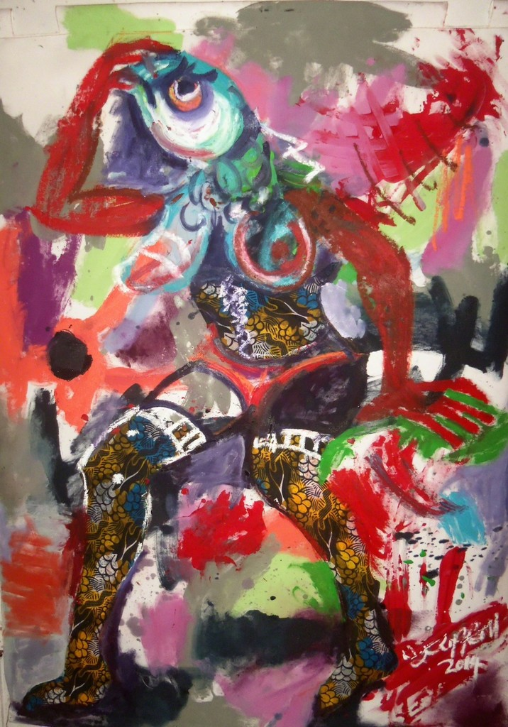 Wycliffe Mundopa, 'Fishing for Love 2,' 2014, First Floor Gallery Harare