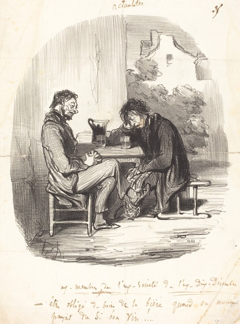 Honoré Daumier, 'Ex-membres de l'ex-société de l'ex-Dix-décembre', 1850, National Gallery of Art, Washington, D.C.