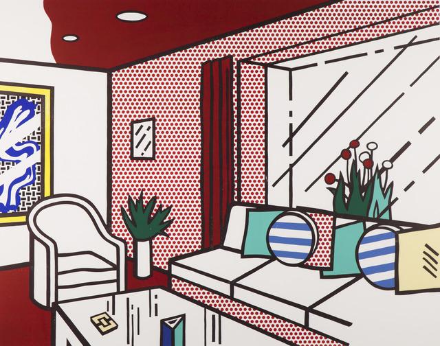 Roy Lichtenstein, 'Living Room', 1990, Print, Woodcut and screenprint on museum board, Ronald Feldman Gallery