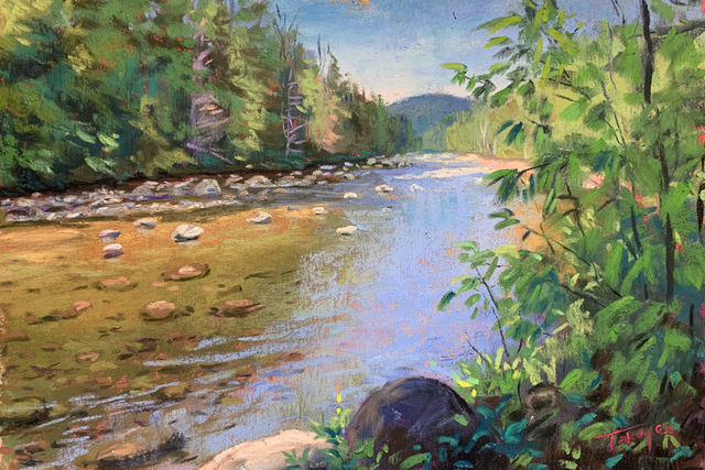 Takeyce Walter, 'Day 12: Opalescent Light', February 2020, Painting, Pastels, Keene Arts