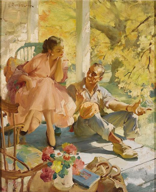 "Haddon Sundblom, 'End of the Road,   ""Ladies' Home Journal""   Golden Age of Illustration ', 1957, Robert Funk Fine Art"