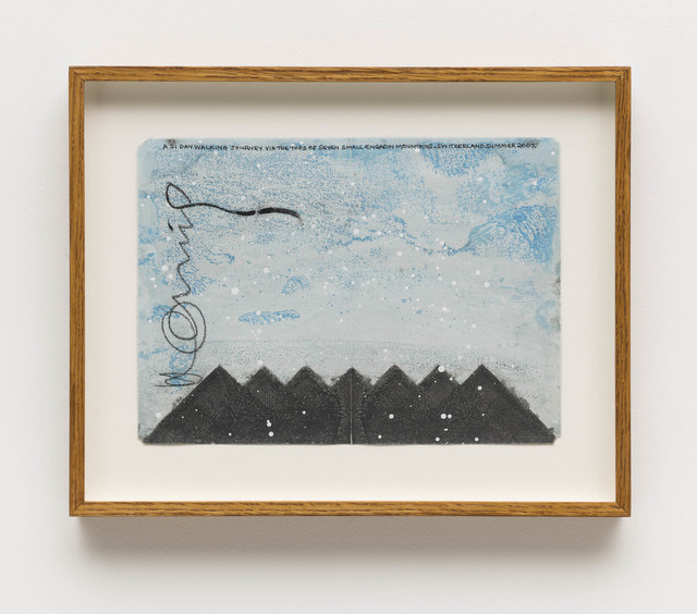Hamish Fulton, 'A 21 day walking journey via the tops of seven small Engadin mountains. Switzerland', 2007, Bergamin & Gomide
