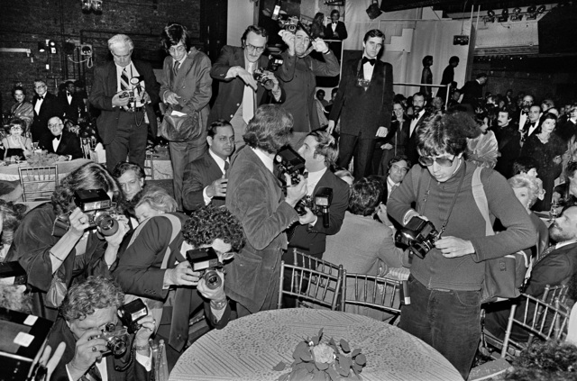 Bill Bernstein, 'Paparazzi at Studio 54', 1977, David Hill Gallery