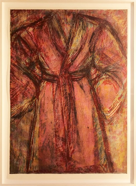 Jim Dine, 'Rosy Robe', 1998, Print, Woodcut and cardboard intaglio on Arches Cover White paper, Hamilton-Selway Fine Art