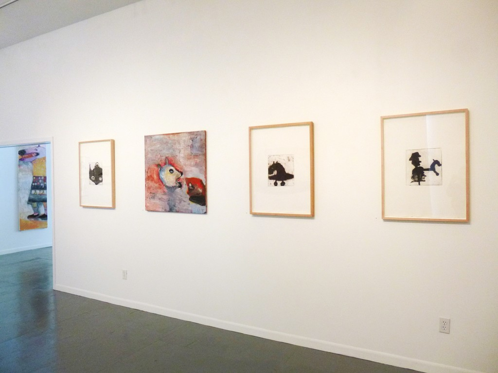Mono prints by Livia Stein in the gallery.