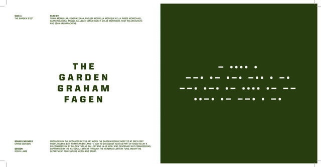 ", 'The Garden/ Radio Relay.  7"" Vinyl and Book,' 2016, Golden Thread Gallery"