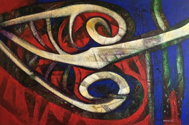 Raul Pozo Enmanuel, 'Formas en azul y rojo', 2011, MLA Gallery