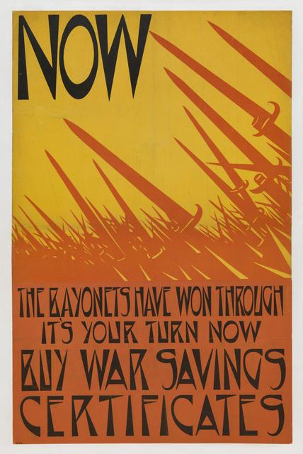 , 'Now The Bayonets Have Won Through,' 1918, Osborne Samuel