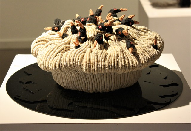 , 'FOUR AND TWENTY (black birds baked in a pie),' 2017, Marta Hewett Gallery