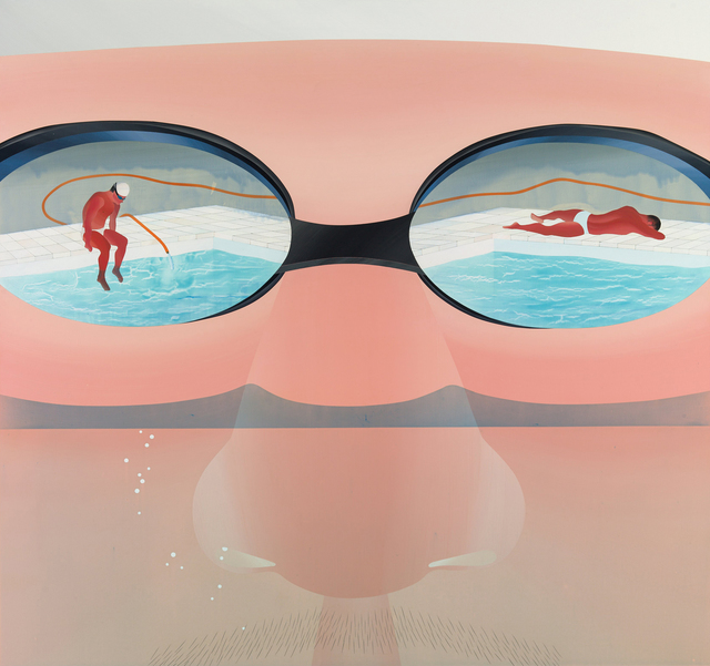 , 'Swimming pool series-getting water up to your nose,' 2013, Aki Gallery