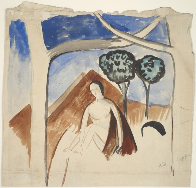 André Derain, 'Woman and Mountain', ca. 1907-08, Yale University Art Gallery