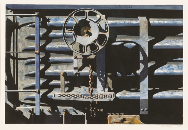Robert Cottingham, 'Rolling Stock Series Study', 1990, Painting, Gouache on paper, Louis K. Meisel Gallery
