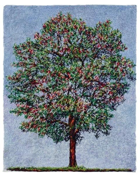 , 'Árvore com frutos vermelhos,' 2014, dconcept escritório de arte