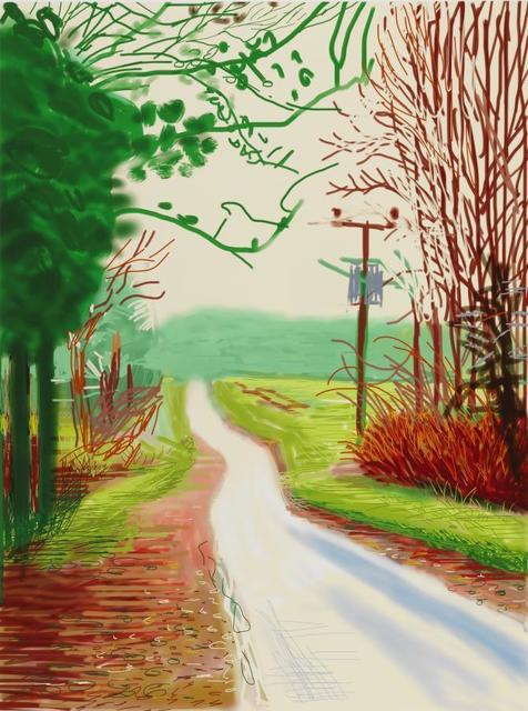 David Hockney, 'The Arrival of Spring in Woldgate, East Yorkshire in 2011 (twenty eleven) - 23 Feburary 2011', 2011, Lougher Contemporary