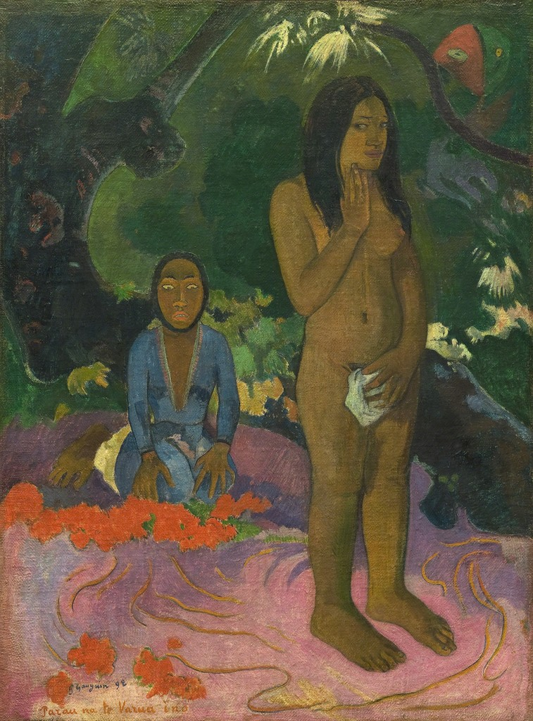 Paul Gauguin, 'Parau na te Varua ino (Words of the Devil),' 1892, National Gallery of Art, Washington, D.C.