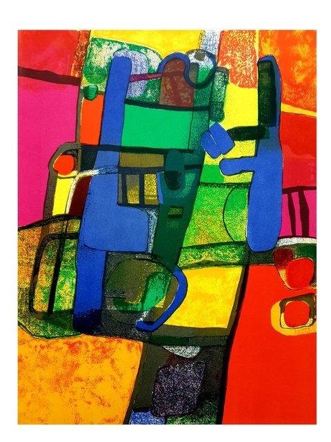 Maurice Estève, 'Maurice Estève - Colorful Abstraction - Original Lithograph', 1969, Galerie Philia