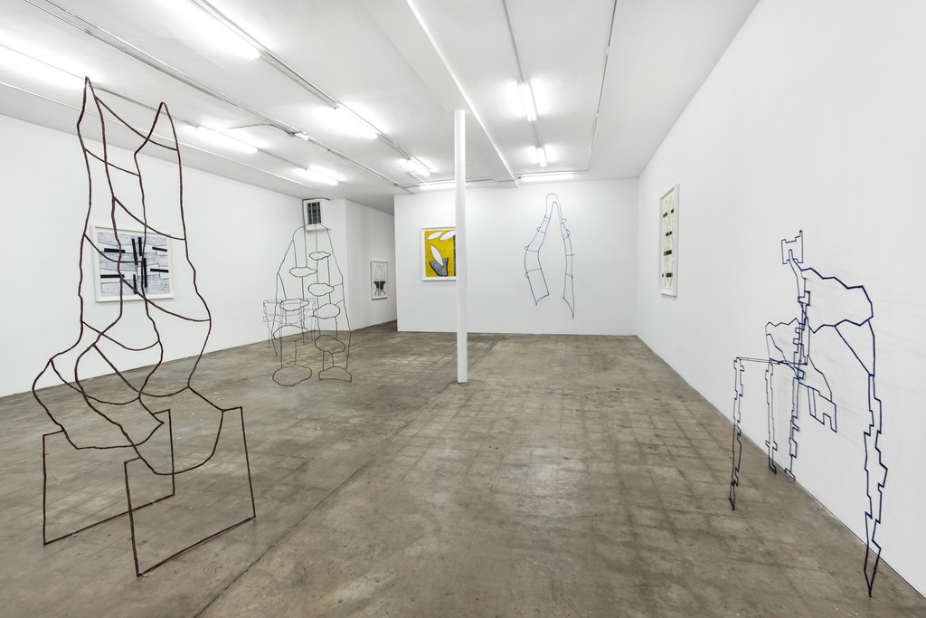 Dominique Labauvie, Material Catch, Installation view