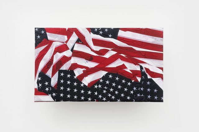 Josh Kline, 'Reality Television 14', 2020, Sculpture, Nylon flags, polyurethane, epoxy, microfiber, mounting hardware, Various Small Fires