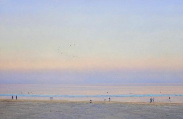, 'Evening Beach / American realism ocean beach figurative landscape,' 2019, Andra Norris Gallery