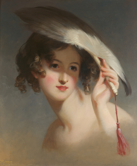 , 'Girl with a Fan (Blanche Sully),' 1837, Debra Force Fine Art