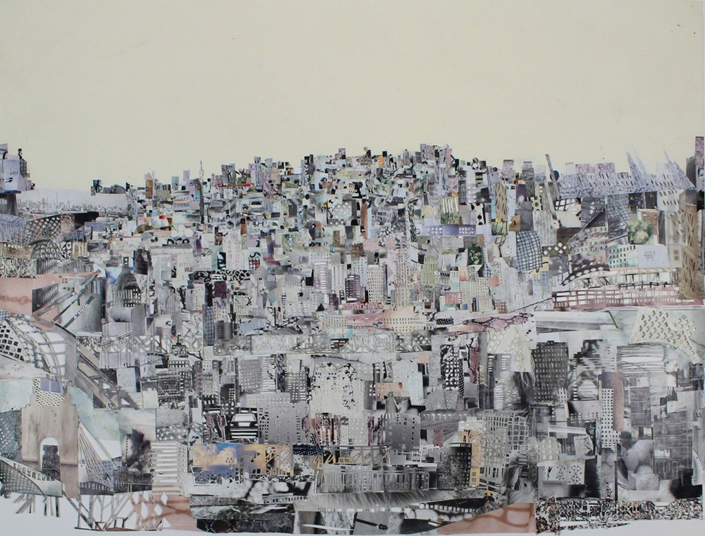 """Jenni Tietze: """"Cincinnati"""", 2017, Collage, Cut-Out on paper, 32,4 x 43,5cm"""