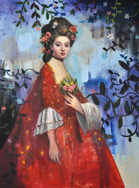 , 'Portrait in Red,' 2018, Blue Rain Gallery