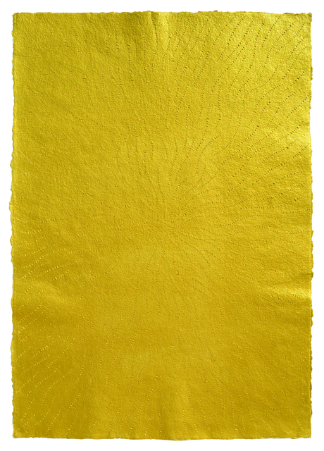 , 'Acrylic on Scratched Paper (Gold),' 2008, Aicon Gallery