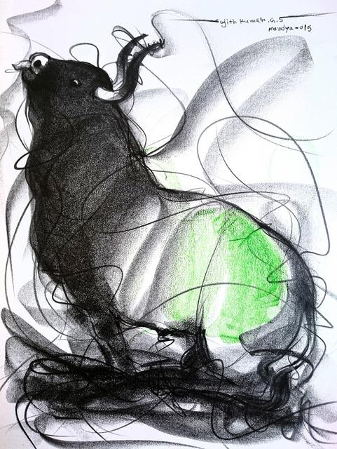 Sujth Kumar G.S. Mandya, 'Bull Drawing -  600', 2009, MayinArt