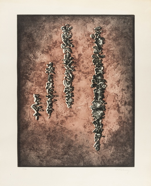 Mark Tobey, 'They've Come Back II', 1971, Print, Etching with aquatint printed in colours, on laid paper, Forum Auctions