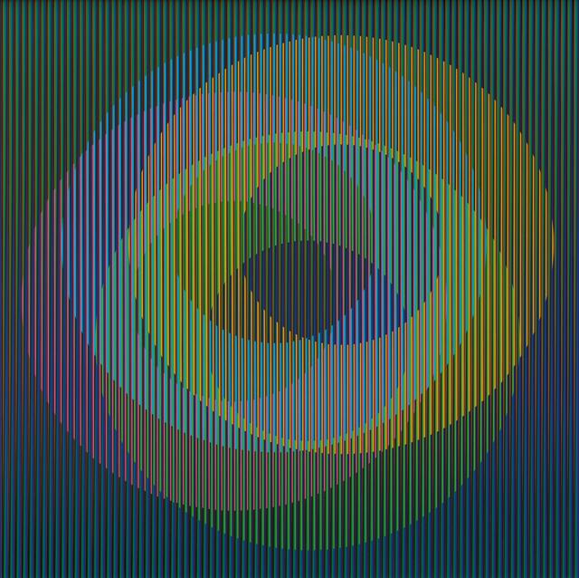 Carlos Cruz-Diez, 'Physichromie 1498', 2007, Mixed Media, Chromography on aluminum and plastic inserts, Dep Art Gallery