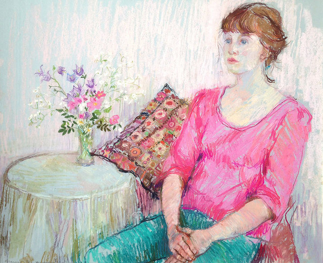 , 'Girl in Pink,' , Mall Galleries