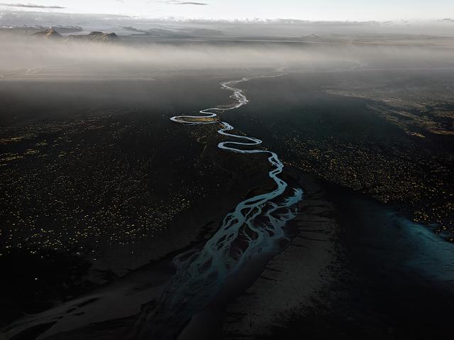 , 'Dyralaekir River on Mydalssandur,' 2012, SCHEUBLEIN + BAK