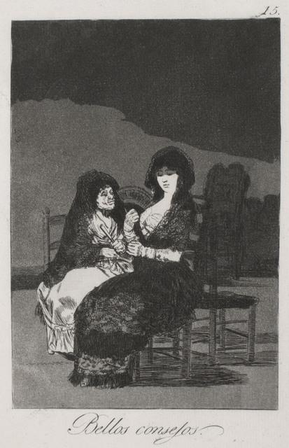 Francisco de Goya, 'Bellos Consejos (Wonderful Advice)', 1799, R. S. Johnson Fine Art