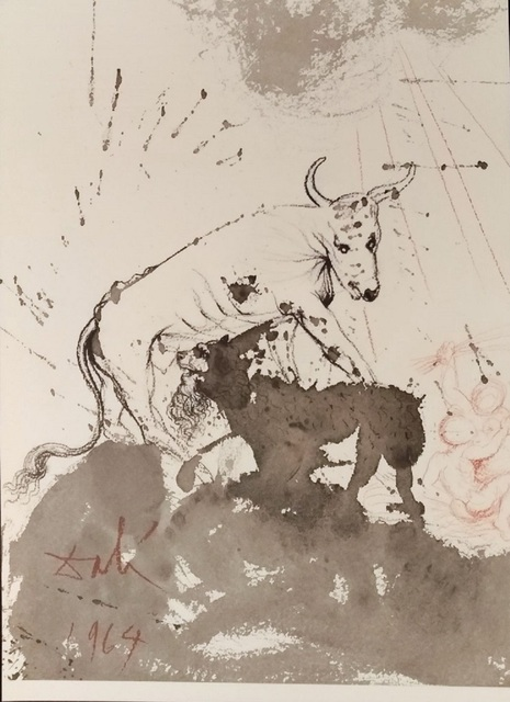 "Salvador Dalí, 'Leo quasi Bos comedens paleas - From ""Biblia Sacra"" ', 1964, Wallector"