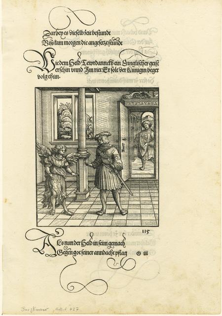 , 'An angel counselling Theuerdank.,' , August Laube Buch & Kunstantiquariat