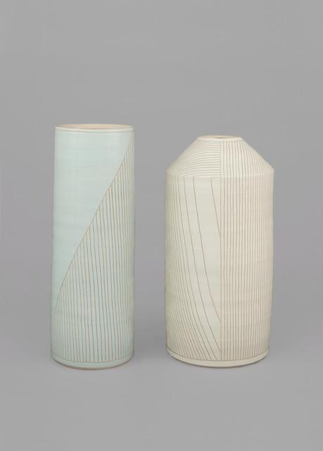 , 'On left: (line 68), On right: (line 67),' 2017, Gagosian