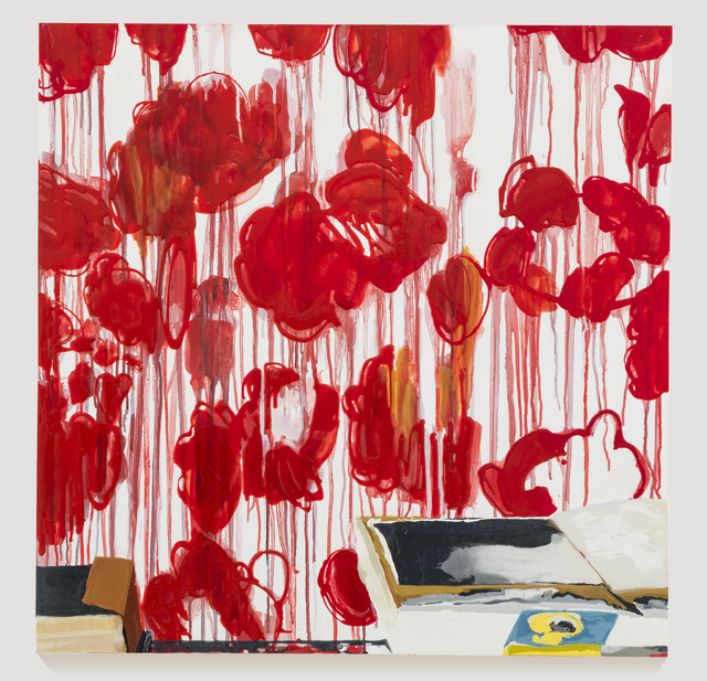 Kirsten Everberg, 'Studio, Roses (after Twombly)', 2015, Oil and enamel on wood panel, 1301PE