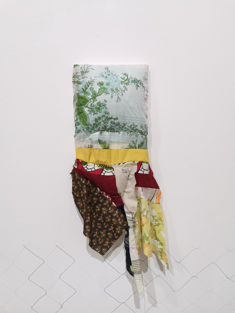 T.J. Dedeaux-Norris, 'Beloved', 2019, Mixed Media, Reclaimed fabric on stretcher, Mimmo Scognamiglio / Placido