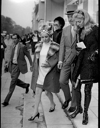 , 'Elizabeth Taylor, Marie-Helene, and Guy de Rothschild, Prix de l'Arc de Triomphe, Paris,' 1968, Staley-Wise Gallery