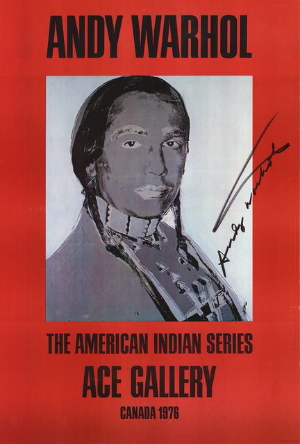 Andy Warhol, 'American Indian (Red)', 1977, ArtWise