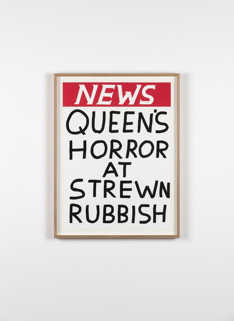 , 'Untitled (Queen's Horror At Strewn Rubbish),' 2017, Galleri Nicolai Wallner