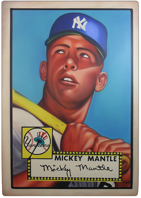 , '1952 Topps -  Mickey Mantle (Rookie Card),' 2017, Axiom Contemporary
