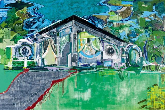 Jin Jinghong 金景鸿, ' Courtyard', 2018, Painting, Acrylic on Canvas, Asia Art Center