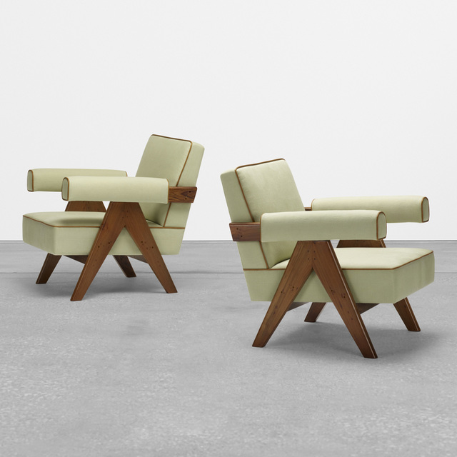 Pierre Jeanneret, 'lounge chairs from Chandigarh, pair', c. 1958-59, Wright