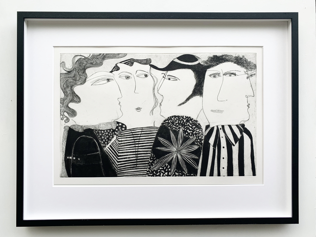 Kristiane Semar, 'Instragram Men', 2017, Print, Etching with aquatint on Zerkall Alt Bern 250 gsm, Dreipunkt Edition