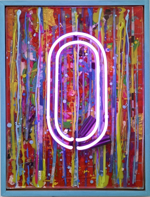 , 'The Big O, pink neon, vibrant colour, vintage board, signed, great reviews ,' 2017, Flat Space Art